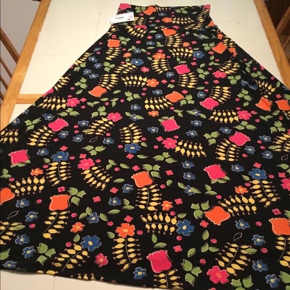 c90dbfa0c LuLaRoe Skirts   Bnwt S Maxi Stunning Vibrant Flowersblack   Poshmark